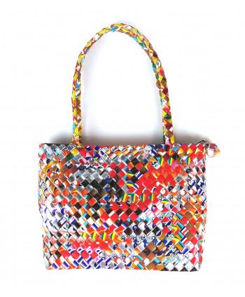 Petit sac à anses multicolore