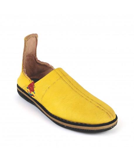 copy of Babouche jaune semelle en pneu
