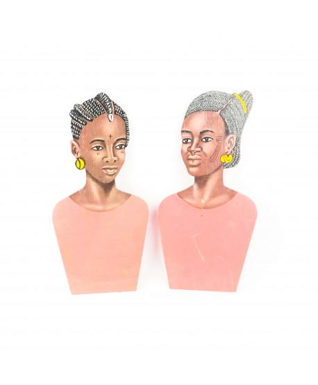 Buste peint femme Peul