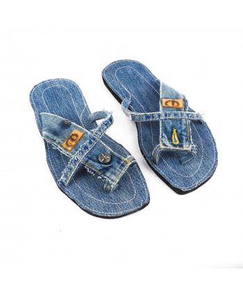 sandale en jeans