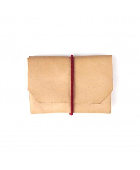 Porte-monnaie cuir avec fermeture élastique