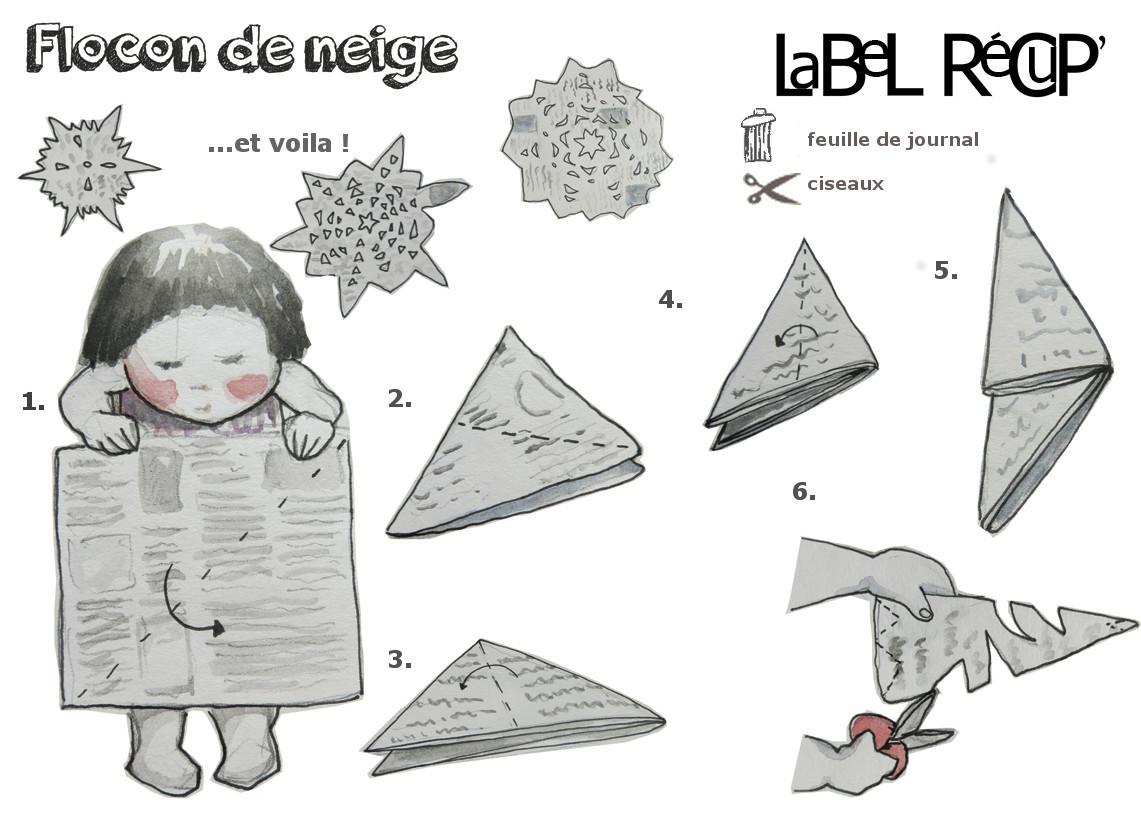 Flocon en papier
